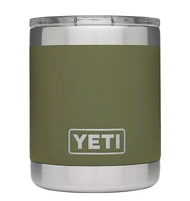 Yeti Rambler 10oz Lowball Insulated Stainless Steel, Olive Green with Lid