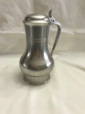 Vintage ~KMD Tiel ~ Royal Holland Pewter ~ Tankard? with Hinged Lid ~ Very Nice