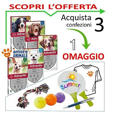 Advantix Bayer (3+OV) 4 pipette x Cani da 0-4 / 4-10 / 10-25 / 25-40 / 40-60 kg