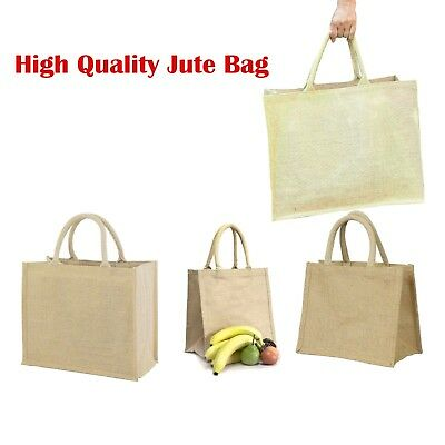 Quality jute bags small medium large lot for lunch, gift, shopping, storage