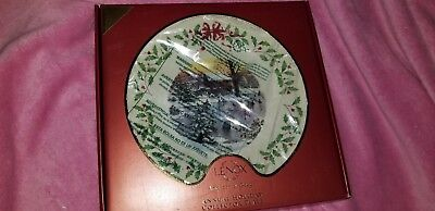 brand new lenox holiday annual christmas plate 2010 ice skaters new in box