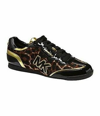 Details about Michael KORS MK GOLD LOGO TRAINER CHEETAH ICONIC SNEAKERS US 5 I LOVE SHOES