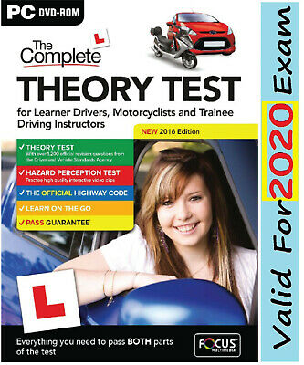 2019 Latest Edition. The Complete Car Driving Theory Test PC DVD CD Rom U*FcThry