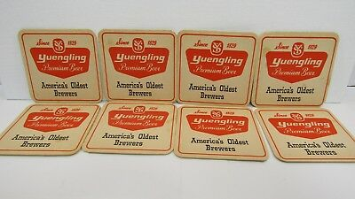 Vintage Yuengling Beer Square Coasters - set of 8 (916