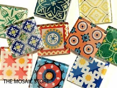 Spanish Inspired Glass Mosaic Tiles 2.5cm Mix 2 - Art Craft Supplies