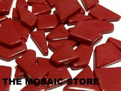Dark Red Irregular Gloss Glass Tiles | Mosaic Tiles Supplies Art Craft