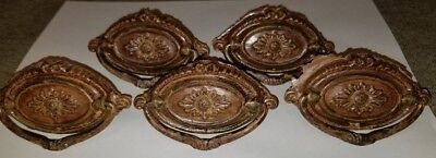 Antique Brass Hepplewhite Oval Drawer Pulls