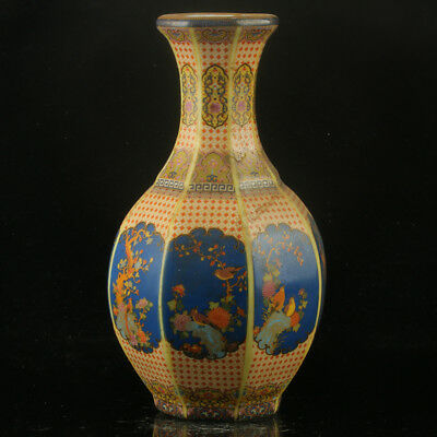 Chinese Enamel Porcelain Hand Painted Bird Vase Made During The Kangxi Period+a