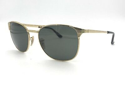 f4c906307ed Ray-Ban Authentic Signet 3429-M Gold Metal  Green Polarized Sunglasses 58mm
