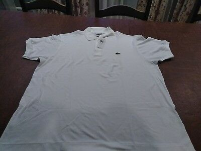 b2baaaba Lacoste Men's Short Sleeve Classic Cotton Pique Polo L1212-51 001 White XXL