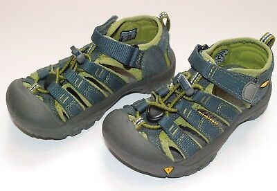 420bfe3f3a85 Boys Keen Kids Newport H2 Waterproof Sandals Water Shoes Navy   Green Size  11