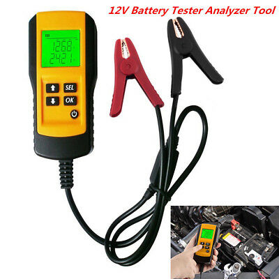 12V Car Digital Vehicle Battery Analyzer Test Diagnostic Tool LCD Display Yellow