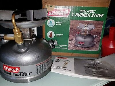 Coleman Dual Fuel Stove funnel camping stove  533 camp cooker