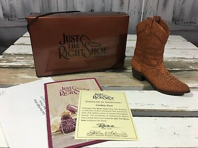 Just The Right Shoe By Raine, Willitts Cowboy Boot COA Box 25502