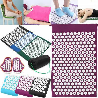 Massager Relieve Massage Acupressure Acupuncture Body Pain Spike Yoga Mat Pillow