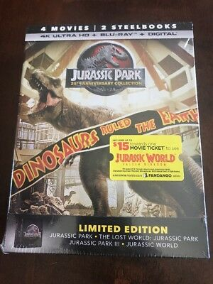 Jurassic Park: 25th Anniversary Collection SteelBook & 4k Ultra HD Only @BestBuy