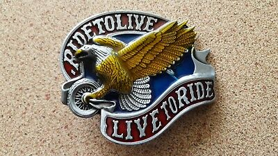 """Eagle with Golden Wings ...""""Ride to Live-Live to Ride """"..free post"""