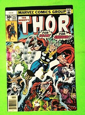 Thor #257 For Odin,for Asgard! Vs Sporr! Marvel 1977, Vf 8.0, Combined Shipping!