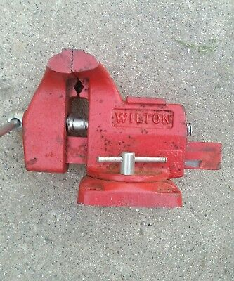 """Wilton Bench Vise, 4"""" Jaw Width. Used. USA made."""