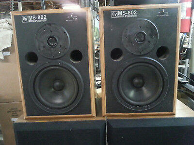 electro voice 802 STUDIO MONITOR SPEAKER SYSTEM BEAUTIFUL WOOD CABINETS