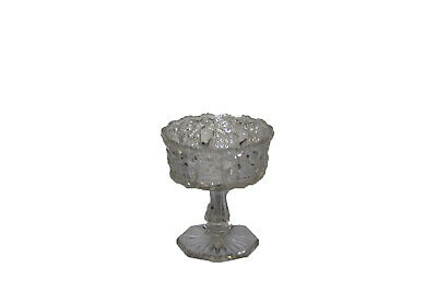 Vintage Clear Press Cut Glass Pedestal Style Candy Dish Goblet Chalice 5.5""