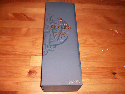 Johnnie Walker Blue Label Scotch Whiskey Empty Bottle In Gift Box 750ml (B)