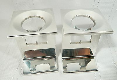 NEW YORK MUSEUM MODERN ART CANDLE HOLDERS STICKS  Vintage 1971 DESIGNER Lionetti