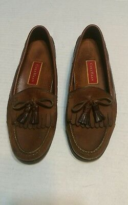 6d407cbacdc COLE HAAN COUNTRY Tassel Kiltie Loafers Brown Slip On Shoes Men's 9M ...