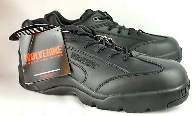 Wolverine Shoes Steel Toe Work Sneakers Black NWT 9.5 ANSI Z41 PT99 RETAIL $90