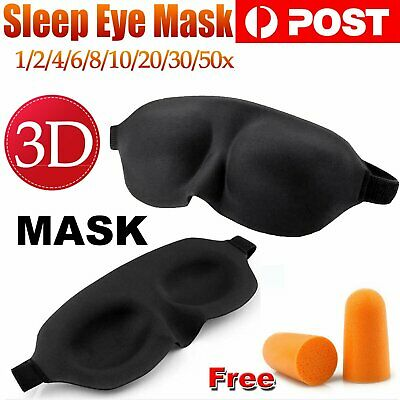 3D Sleep Eye Mask Blindfold Sleep Travel Shade Relax Cover Light Blinder Patch