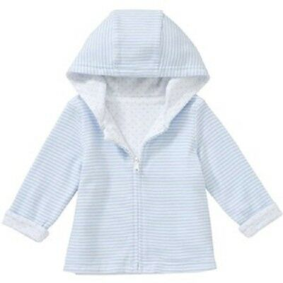 BNWT, Jacket, Baby, Zip Through, Blue/White Stripe, Sz 0000, Newborn, Cotton,