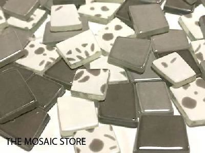Taupe Irregular Patchwork Glass Mosaic Tiles -  Supplies Art Craft