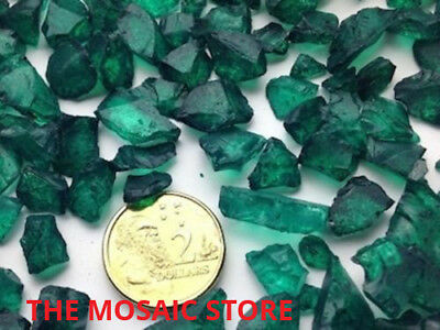 Jade Tumbled Glass Pieces - Mosaic Tie Art & Craft Supplies