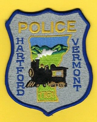 Hartford Police Department Patch ~ Vermont ~ Beautiful Artwork & Colors ~ Train