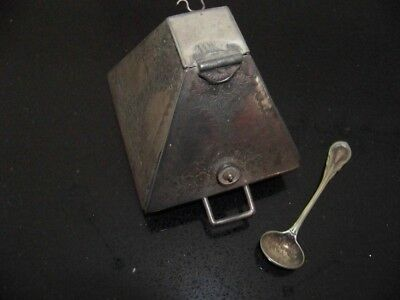 Antique Sugar Skuttle With Spoon