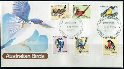 1979 Australia Birds Definitive's Set Of 6 First Day Cover, Mint Condition