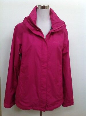 Jack Wolfskin Sz M 12/14 Womens Outdoor Sports Texapore Jacket Hot Pink As New