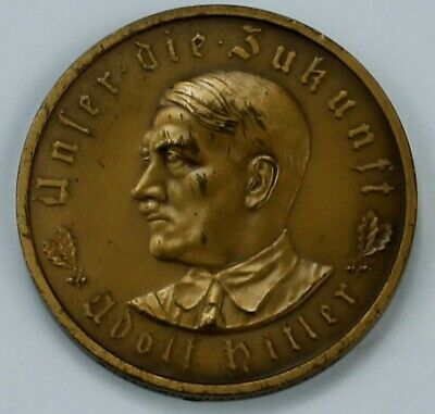 1933 - Adolf Hitler - Original German Bronze Coin Medal - BOX