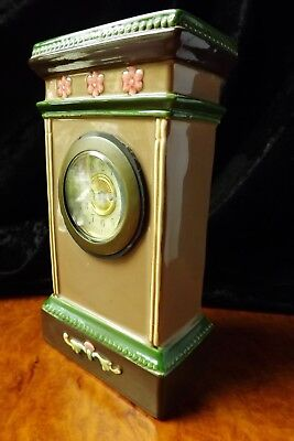 Early 1900's German Porcelain & Brass Mantle Clock Original Stunning Working