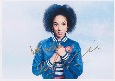 RARE: Pearl Mackie AUTOGRAPH on A4 photo of Bill Potts. Doctor Who. (Signed!)