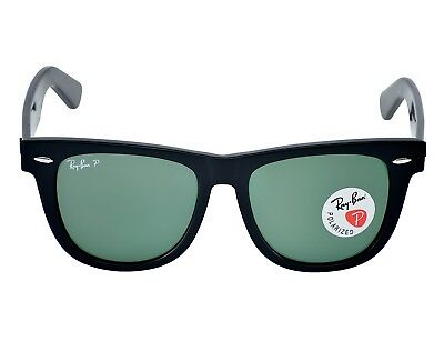 Ray Ban RB2140 901/58 Original Wayfarer Classics Black Frame/Polarized Green