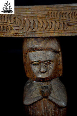 Stunning Very Old Massim Stool, Trobriand Islands , PNG, Papua New Guinea