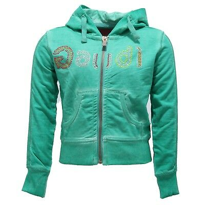 8335V felpa bimba GAUDI' TEEN cotton green sweatshirt girl kid