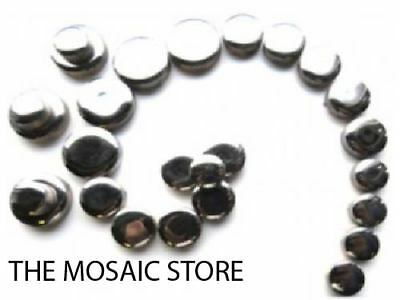 Silver Ceramic Discs / Round / Circle Tiles - Mosaic Art Craft Tiles Supplies