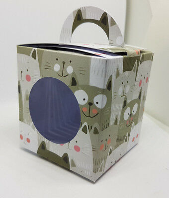 Cat Themed Cup Cake Boxes