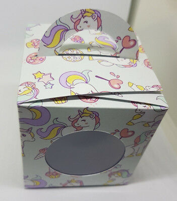 Unicorn Inspired  Cup Cake Boxes