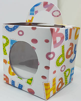 Happy Birthday Cup Cake Boxes