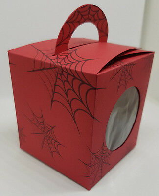 Spiderman Inspired Cup Cake Boxes