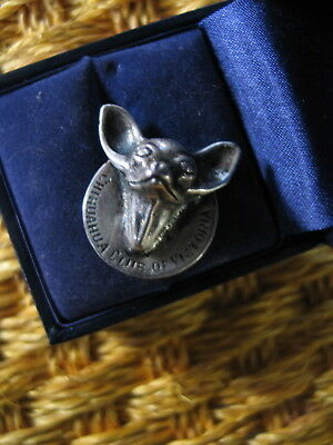 Sterling Silver Chihuahua Brooch.