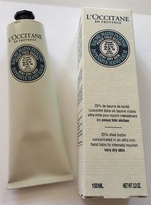 L'Occitane 25% Shea Intensive Hand Balm 150ml for Very Dry Skin -Brand New